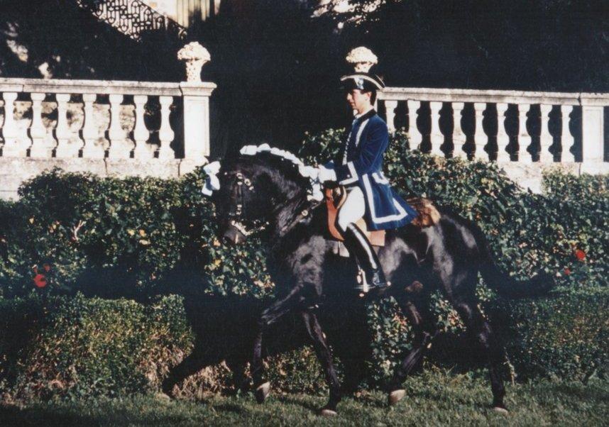 Carlos Pinto à l'école Royal d'Art Equestre
